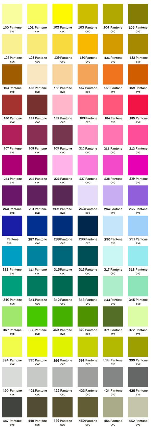 Clothmen Color Pantone System